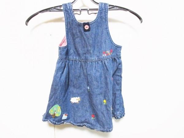 ミキハウス ワンピース サイズ90 レディース ネイビー デニム/刺繍/子供服