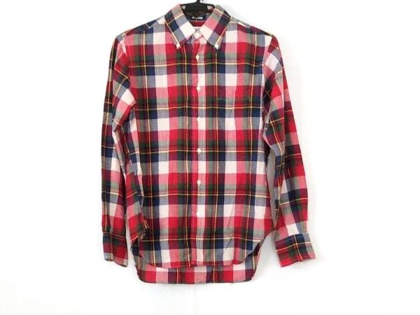 インディビジュアライズドシャツ 長袖シャツ メンズ美品  レッド×ネイビー×マルチ