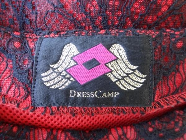 ドレスキャンプ 半袖カットソー サイズS レディース 黒×レッド レース/フラワー
