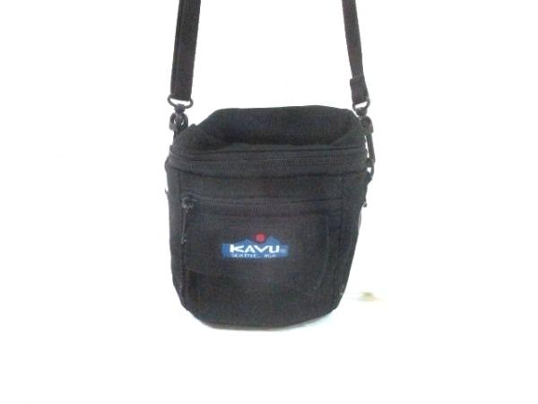 KAVU(カブー) ショルダーバッグ 黒 ストラップ取外し可/ミニサイズ ナイロン