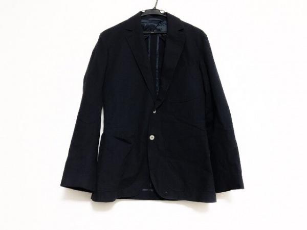 MONITALY(モニタリー) ジャケット サイズ36 S メンズ ネイビー チェック柄