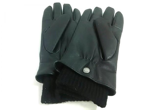 7db689d3c3ab COACH(コーチ) 手袋 M メンズ美品 黒 レザーの中古 | COACH ブランド古着 ...