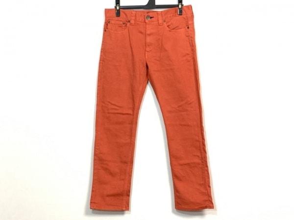 バーバリーブラックレーベル ジーンズ サイズ76 メンズ美品  オレンジレッド