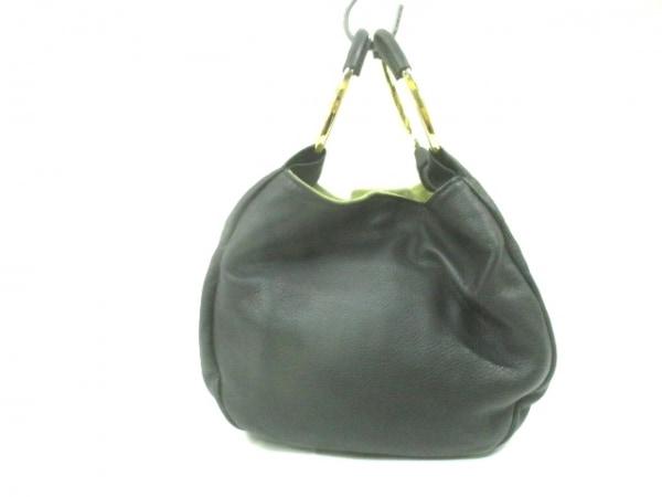 POP CORN MILANO(ポップコーン) ハンドバッグ 黒×ゴールド レザー×金属素材