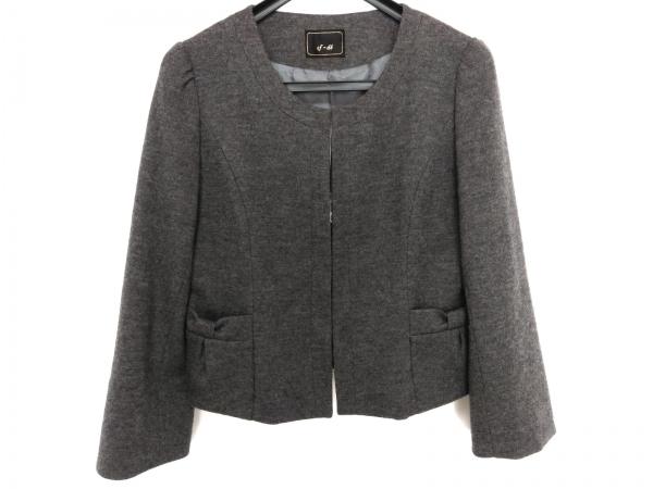 ef-de(エフデ) ジャケット サイズ13 L レディース美品  ダークグレー リボン