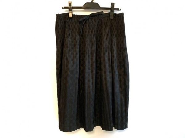 GOUT COMMUN(グーコミューン) ロングスカート サイズM レディース ダークグレー×黒