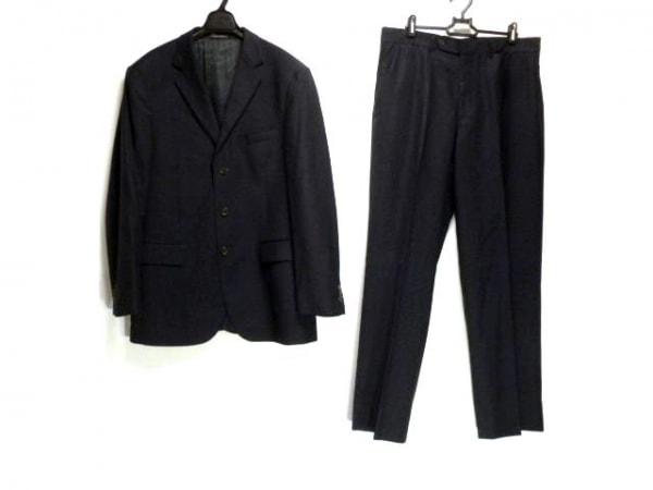SAKSFIFTHAVENUE(サックスフィフスアベニュー) シングルスーツ メンズ 黒 ストライプ