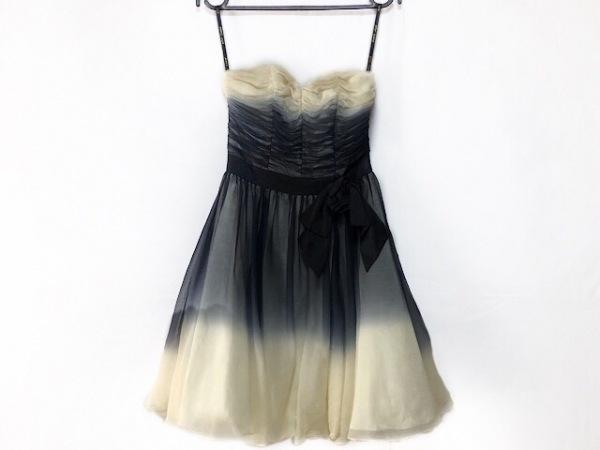 ベッツィージョンソン ドレス サイズ0 XS レディース美品  黒×アイボリー リボン