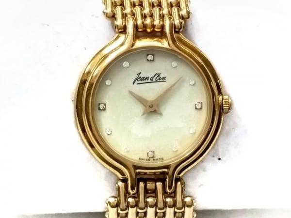 Jeand Eve(ジャンイブ) 腕時計 - レディース アイボリー