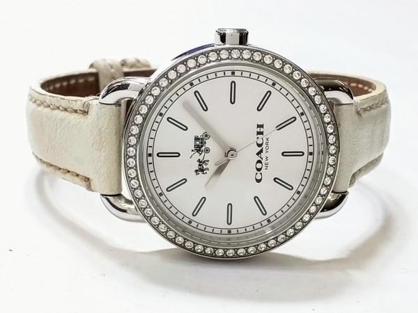 1e521b473c2d ... COACH(コーチ) 腕時計 CA.105.7.14.1141S レディース ラインストーンベゼル 白 ...