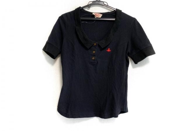 ヴィヴィアンウエストウッドレッドレーベル チョイス 半袖ポロシャツ サイズ2 M 黒