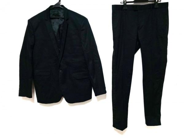 LES HOMMES(レゾム) シングルスーツ メンズ ネイビー×黒 側章