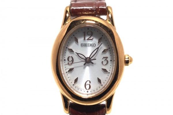 SEIKO(セイコー) 腕時計 V117-0CR0 レディース ライトグレー