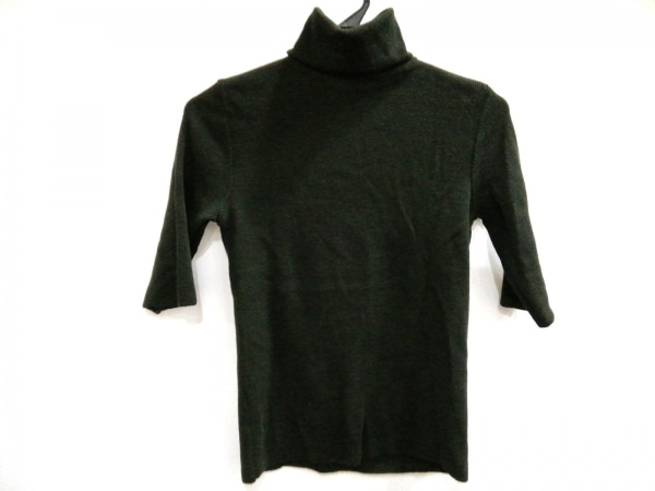 ZANONE(ザノーネ) 半袖セーター サイズ42 L レディース美品  カーキ