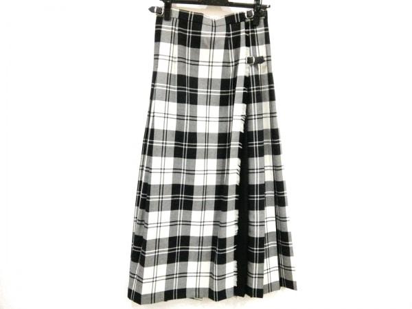 O'NEIL(オニール) ロングスカート サイズ42 L レディース美品  黒×白 プリーツ