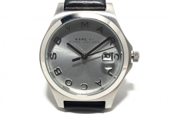 マークジェイコブス 腕時計 MBM9054 レディース 革ベルト シルバー