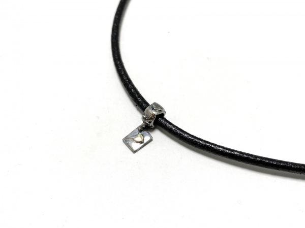 Clioblue(クリオブルー) ネックレス シルバー×レザー 黒