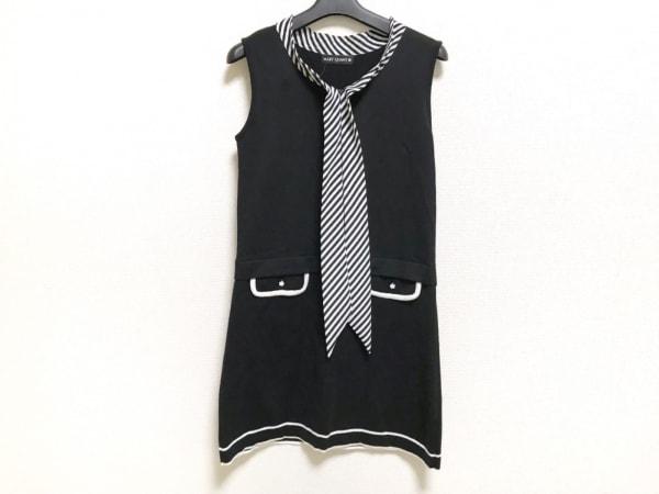 MARY QUANT(マリークワント) ワンピース サイズM レディース美品  黒×白 ニット