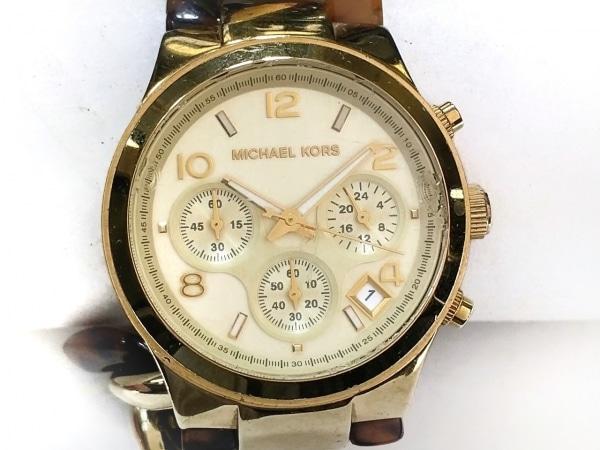 MICHAEL KORS(マイケルコース) 腕時計 MK-4222 レディース クロノグラフ アイボリー