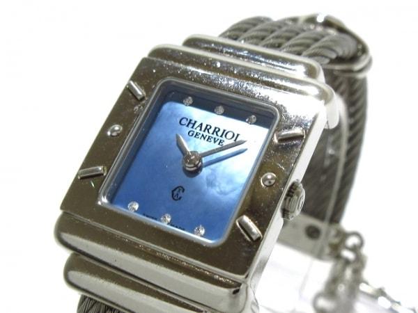 フィリップシャリオール 腕時計美品  サントロペスクエア 6007909 レディース