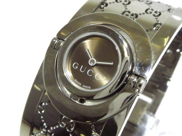 GUCCI(グッチ) 腕時計 トワールウォッチ 112 レディース ブラウン