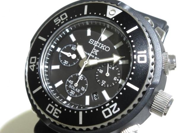 セイコー 腕時計美品  プロスペックス ダイバースキューバ V175-0DS0 メンズ 黒