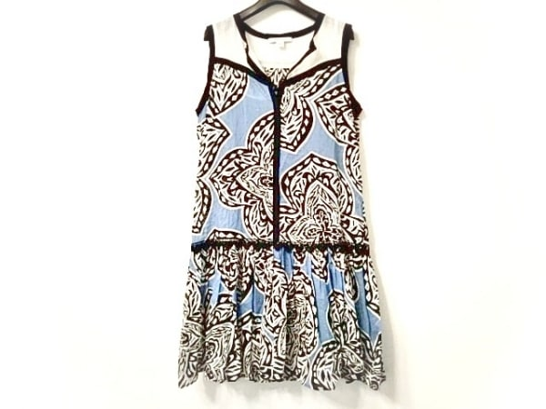 MARELLA(マレーラ) ワンピース レディース美品  ブルー×白×黒 シースルー