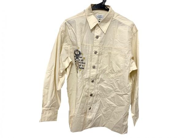 カステルバジャックスポーツ 長袖シャツ サイズ2 M メンズ美品  アイボリー×マルチ