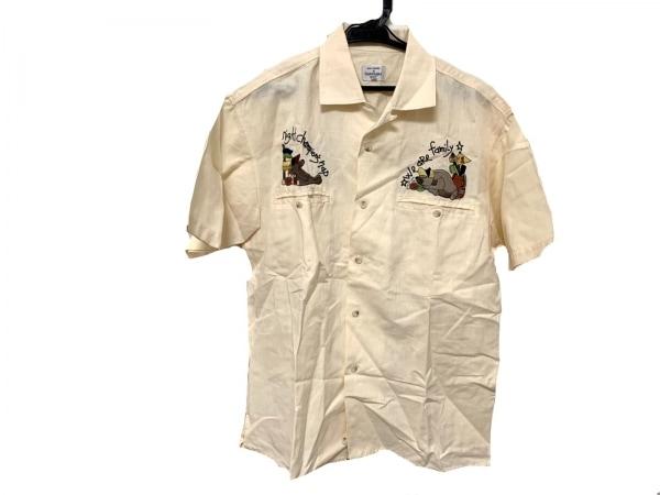 カステルバジャックスポーツ 半袖シャツ サイズ2 M メンズ美品  アイボリー×マルチ