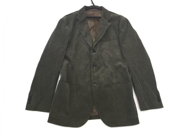 SHIPS(シップス) ジャケット サイズ52 メンズ カーキ コーデュロイ