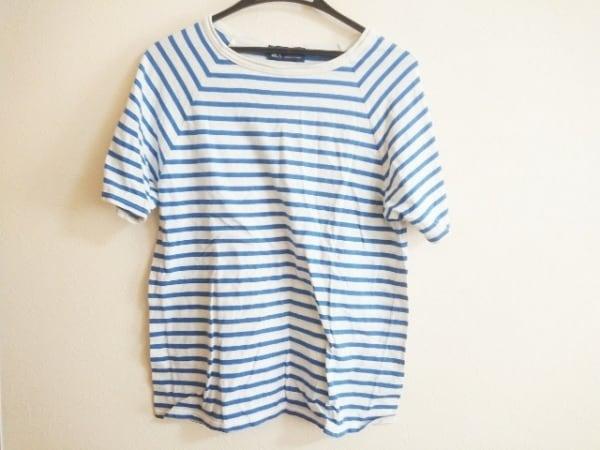 SAINT JAMES(セントジェームス) 半袖Tシャツ サイズL レディース 白×ブルー ボーダー