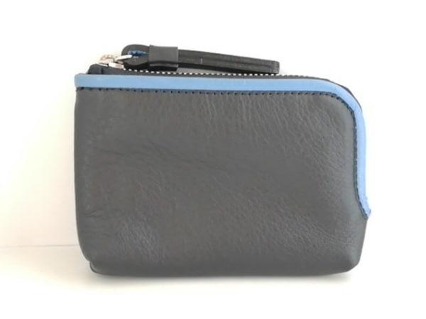 土屋鞄製造所(ツチヤカバンセイゾウショ) コインケース美品  黒×ブルー レザー