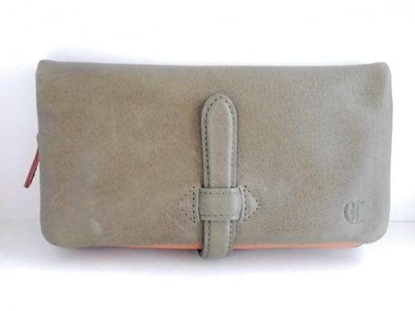 CLEDRAN(クレドラン) 長財布美品  ダークグリーン コインケース取り外し可能 レザー