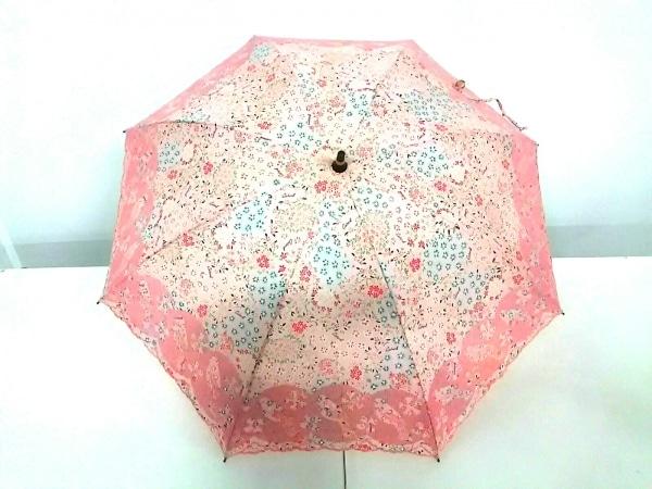 cacharel(キャシャレル) 日傘 ピンク×レッド×マルチ 花柄 化学繊維