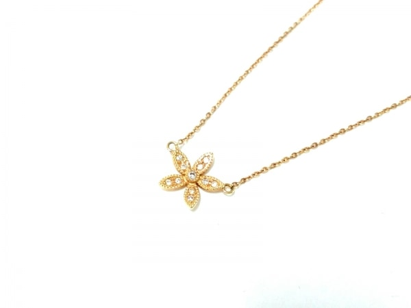 ドレスアドレス ネックレス美品  K18YG×ダイヤモンド 総重量1.8g/0.06カラット