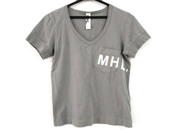 MHL.(マーガレットハウエル) 半袖Tシャツ サイズ1 S レディース カーキグレー×白