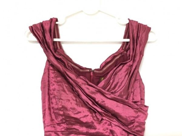 nicole miller(ニコルミラー) ドレス サイズ2 M レディース ボルドー マキシ丈