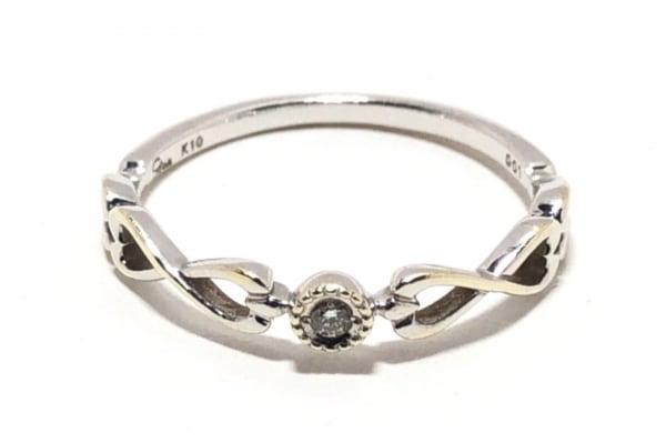STAR JEWELRY(スタージュエリー) リング美品  K10×ダイヤモンド 0.01カラット