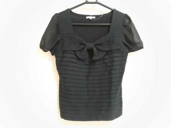 TO BE CHIC(トゥービーシック) 半袖カットソー サイズ2 M レディース美品  黒 リボン