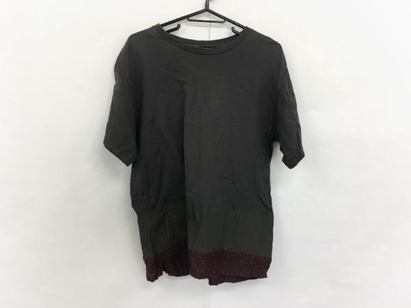 ジョンアンダーカバー 半袖Tシャツ サイズ2 M メンズ美品  黒×ボルドー