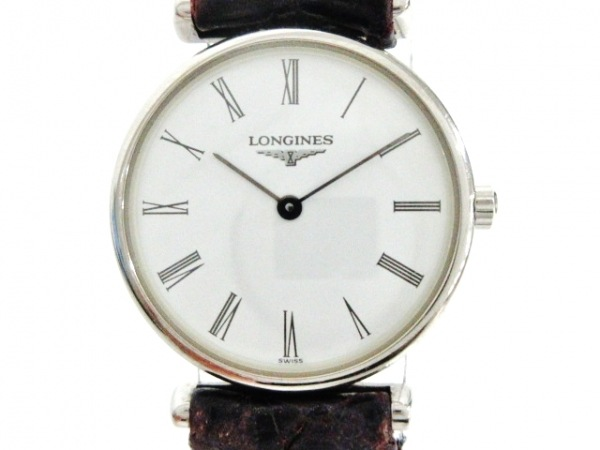 LONGINES(ロンジン) 腕時計美品  L4.135.4 レディース 革ベルト/型押し加工 白