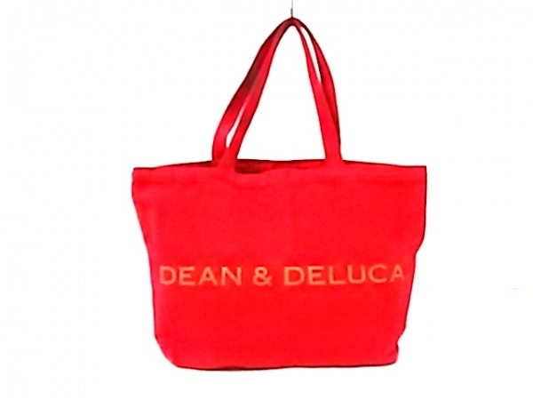 DEAN&DELUCA(ディーンアンドデルーカ) トートバッグ レッド キャンバス