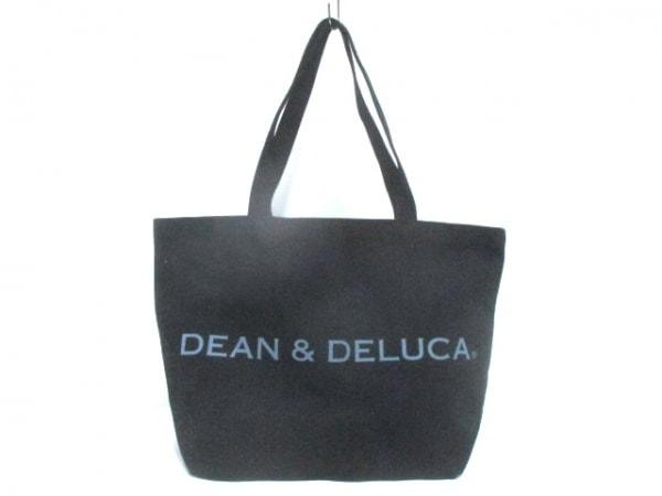 DEAN&DELUCA(ディーンアンドデルーカ) トートバッグ 黒×グレー キャンバス