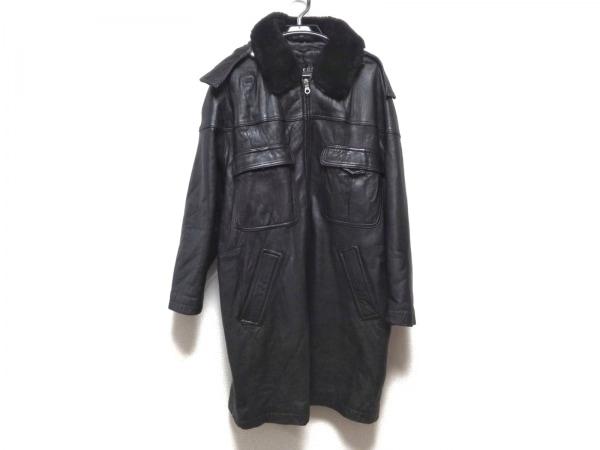 allegri(アレグリ) コート サイズL メンズ 黒 冬物/ラムレザー/ファー