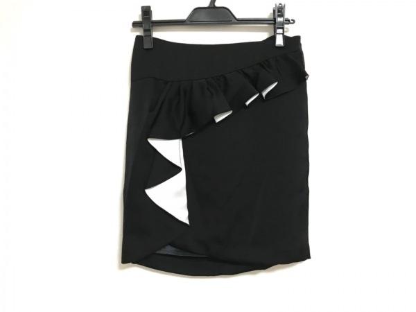 Pinky&Dianne(ピンキー&ダイアン) ミニスカート サイズ36 S レディース美品  黒×白