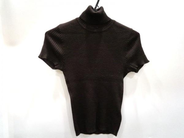 PAULEKA(ポールカ) 半袖セーター レディース美品  ダークブラウン タートルネック