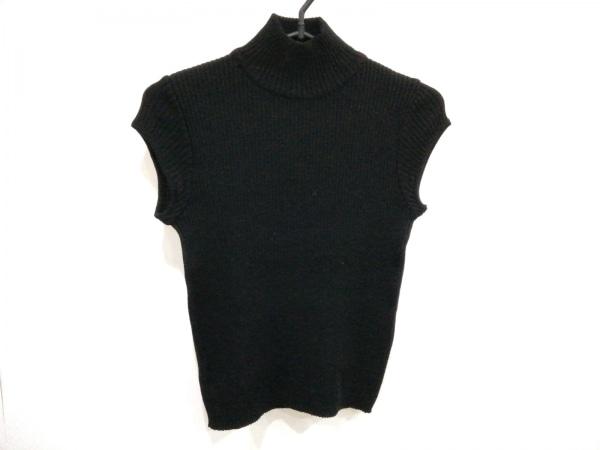 PAULEKA(ポールカ) 半袖セーター レディース美品  黒 ハイネック