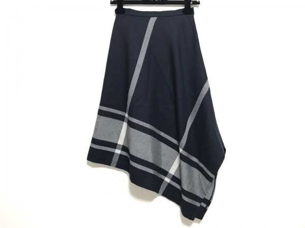 AULA(アウラ) スカート サイズ0 XS レディース美品  黒×ベージュ アシンメトリー