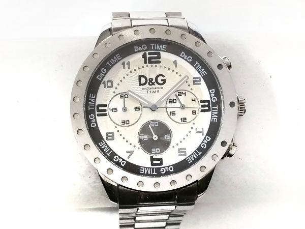 D&G(ディーアンドジー) 腕時計 - メンズ クロノグラフ アイボリー