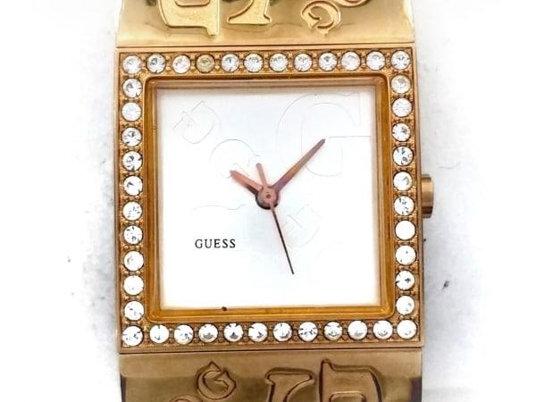 GUESS(ゲス) 腕時計 W10564L1 レディース ラインストーンベゼル シルバー